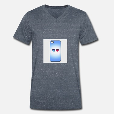 Iphone-44s 3d psychedelic goa meditation glasses iphone 44s h - Men's Organic V-Neck T-Shirt
