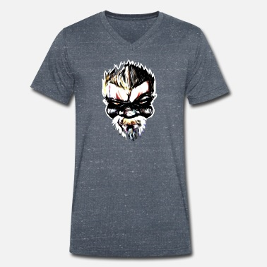 Gangster Badass Streetart Comic Boss - Men's Organic V-Neck T-Shirt