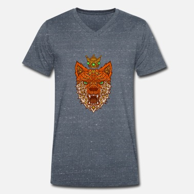 Nano Nano fox with crown - Men's Organic V-Neck T-Shirt