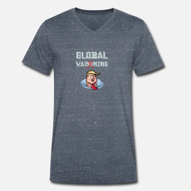 Global avertissement global - T-shirt bio col V Homme