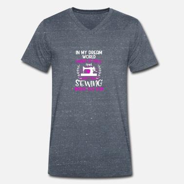 2545597a Sewing shirt · Sewing machine · Seamstress · Sewing cloth - Men's.  Men's Organic V-Neck T-Shirt