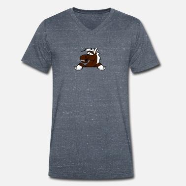 Divertente fumetto muro cavallo cartone animato sc maglietta uomo