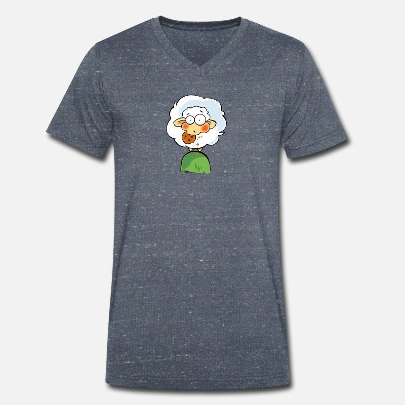 ull 02 T skjorte med V hals for menn | Spreadshirt
