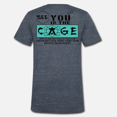 Cage Fighter Cage Fighter - Men's Organic V-Neck T-Shirt