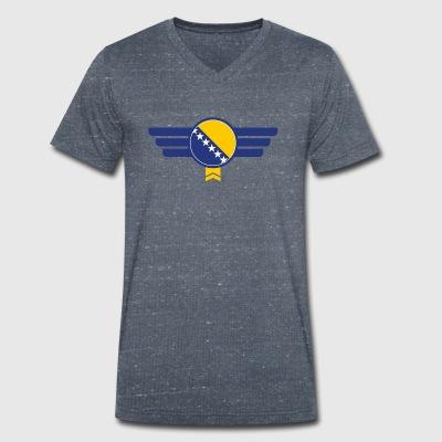 Bosnia flag emblem - Men's Organic V-Neck T-Shirt by Stanley & Stella