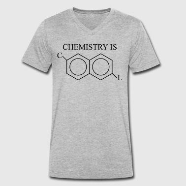 Chemical Structure Cool chemical structure - Men's Organic V-Neck T-Shirt by Stanley & Stella