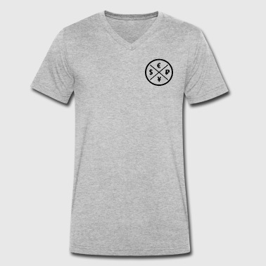 Currency currency Logo - Men's Organic V-Neck T-Shirt by Stanley & Stella
