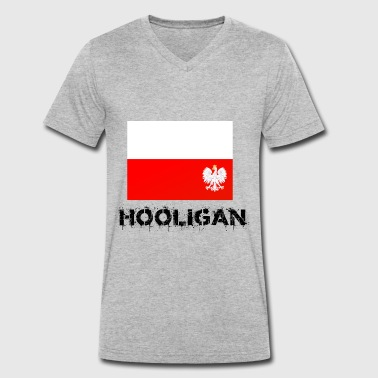 Polish hooligan - Men's Organic V-Neck T-Shirt by Stanley & Stella