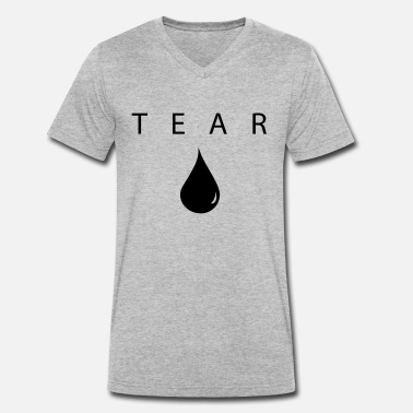 Teardrop Teardrop - Men's Organic V-Neck T-Shirt by Stanley & Stella