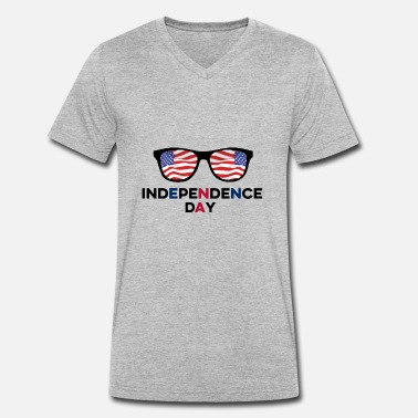 Independence Day Independence Day 4 juillet USA - T-shirt bio col V Stanley & Stella Homme