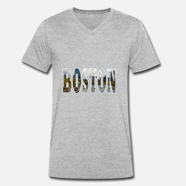 Boston Tea Party BOSTON États-Unis - T-shirt bio col V Stanley & Stella Homme