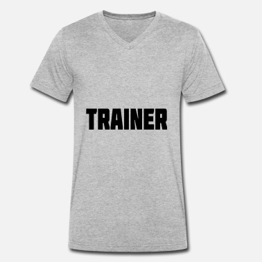 Pe Teachers TRAINER gift for PE teachers and coaches - Men's Organic V-Neck T-Shirt by Stanley & Stella