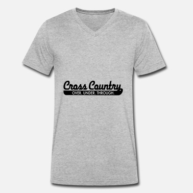 Cross Country 2541614 15376355 cross country - T-shirt ecologica da uomo con scollo a V di Stanley & Stella