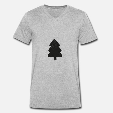 Fir Tree fir tree - Men's Organic V-Neck T-Shirt by Stanley & Stella