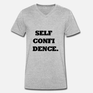Selfconfidence Selfconfidence / self-confidence / gift - Men's Organic V-Neck T-Shirt by Stanley & Stella