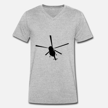 Aviation Helicopter helicopter - Men's Organic V-Neck T-Shirt by Stanley & Stella