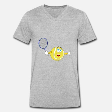 Emoticons Smiley tennis Emoticon Smiley Ball - Männer Bio-T-Shirt mit V-Ausschnitt von Stanley & Stella