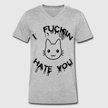Hate You HATE YOU - Men's Organic V-Neck T-Shirt by Stanley & Stella