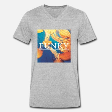 Funky Dance funky - Men's Organic V-Neck T-Shirt by Stanley & Stella