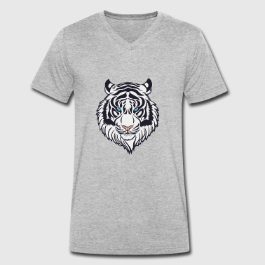 White Tiger WHITE TIGER - Men's Organic V-Neck T-Shirt by Stanley & Stella