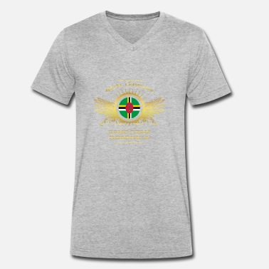 Dominica Vintage Legends born gift home in DOMINICA - Men's Organic V-Neck T-Shirt by Stanley & Stella