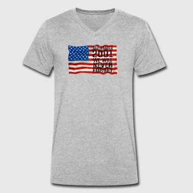 World Trade Centre Septmenber 11 2001 World Trade Center gift - Men's Organic V-Neck T-Shirt by Stanley & Stella