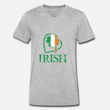 Irish Colors I love Ireland and Irish signs and colors - Men's Organic V-Neck T-Shirt by Stanley & Stella