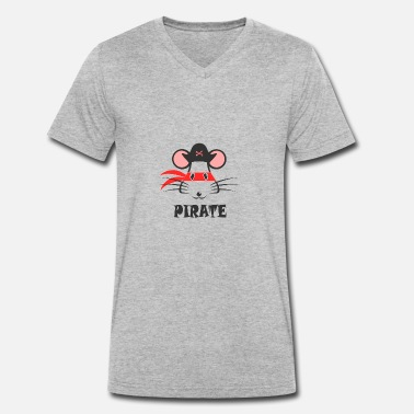 Graphic Pirates Pirate - Men's Organic V-Neck T-Shirt by Stanley & Stella