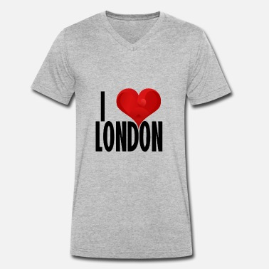 Souvenir I LOVE LONDON black - Men's Organic V-Neck T-Shirt by Stanley & Stella