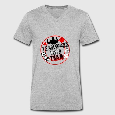 Teamwork makes the DREAM TEAM - Men's Organic V-Neck T-Shirt by Stanley & Stella