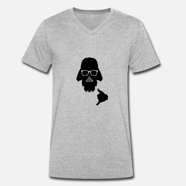 Geek Darth FUNNY DARTH VADER DESIGN GIFT JOYFUL FATHER - Men's Organic V-Neck T-Shirt by Stanley & Stella