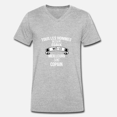714153b233980 Mon Copain copain - T-shirt bio col V Stanley  amp  Stella Homme