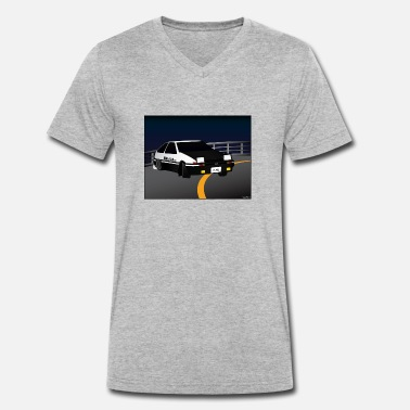 Drift Car Initial D Drifting Akina - Men's Organic V-Neck T-Shirt by Stanley & Stella