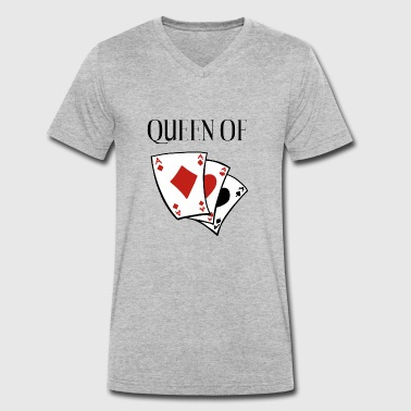 Lady Queen Queen of Card Games - Queen - Heart Lady - Men's Organic V-Neck T-Shirt by Stanley & Stella