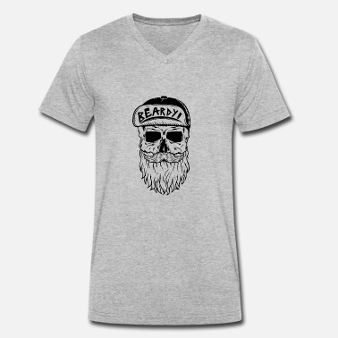 Beardy beardy - Men's Organic V-Neck T-Shirt by Stanley & Stella