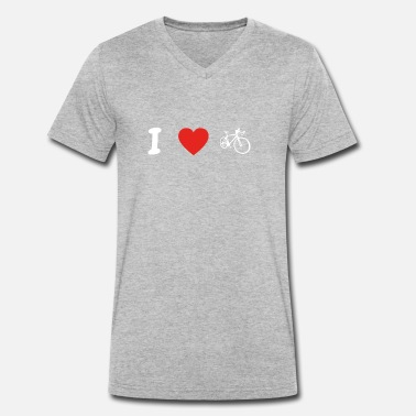 I Love Cycling I love cycling cycling triathlon cycling m - Men's Organic V-Neck T-Shirt by Stanley & Stella