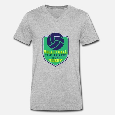Attitude To Life Volleyball Sport Life Attitude - Men's Organic V-Neck T-Shirt by Stanley & Stella
