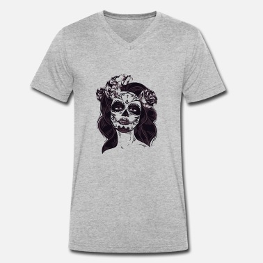 Day Of Dead day of the Dead - Men's Organic V-Neck T-Shirt by Stanley & Stella