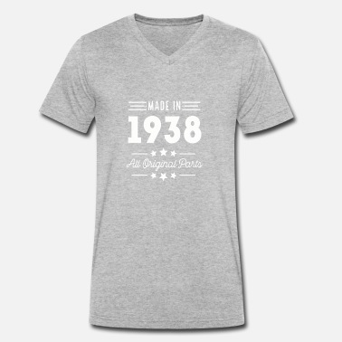 1938 Made In 1938 All Original Parts - Men's Organic V-Neck T-Shirt by Stanley & Stella