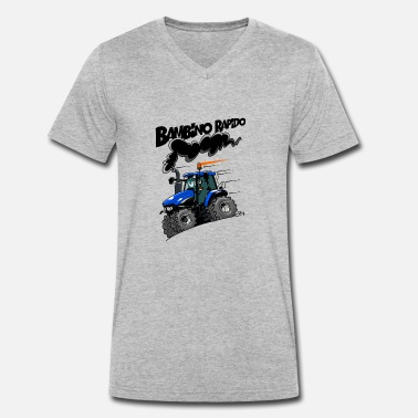 Newholland 0616 NewHolland TM120 bambino rapido - Men's Organic V-Neck T-Shirt by Stanley & Stella