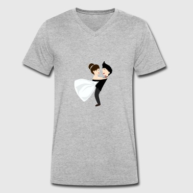 Wedding marriage couple - Men's Organic V-Neck T-Shirt by Stanley & Stella
