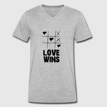 Love Peace Truth love wins - Men's Organic V-Neck T-Shirt by Stanley & Stella