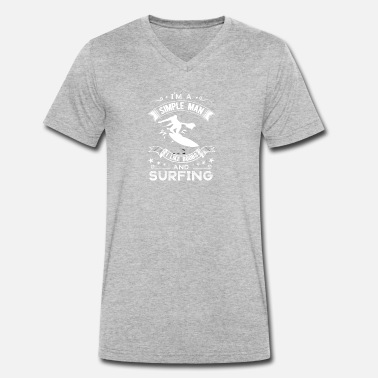 Tits Water Tits and surfing - Men's Organic V-Neck T-Shirt by Stanley & Stella
