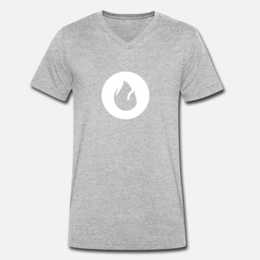 Wildfire Fire - Men's Organic V-Neck T-Shirt by Stanley & Stella