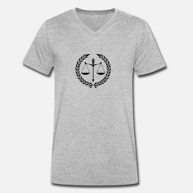 Justice Authority justice - Men's Organic V-Neck T-Shirt by Stanley & Stella