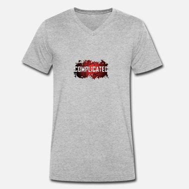 Complicated COMPLICATED - Men's Organic V-Neck T-Shirt by Stanley & Stella