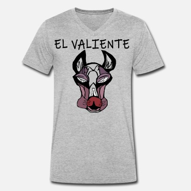 El Arte The brave and courageous dog, El Valiente, art - Men's Organic V-Neck T-Shirt by Stanley & Stella