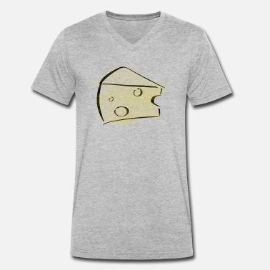 Cheese Cheese Cheese wheel Milk product Baked - Men's Organic V-Neck T-Shirt