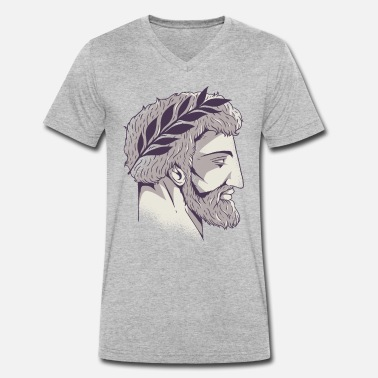 Roman Roman head - Men's Organic V-Neck T-Shirt