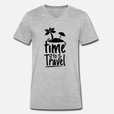 it's time to travel - Men's Organic V-Neck T-Shirt